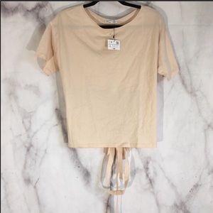 NWT Zara w/b collection tie back top sz. L